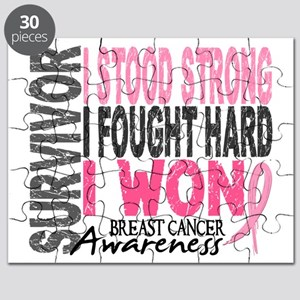 Survivor 4 Breast Cancer Shirts and Gifts Puzzle
