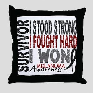Survivor 4 Melanoma Shirts and Gifts Throw Pillow