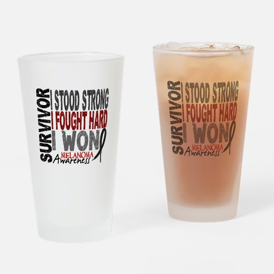 Survivor 4 Melanoma Shirts and Gifts Drinking Glas
