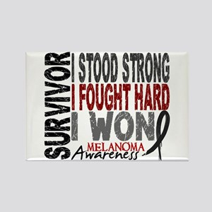 Survivor 4 Melanoma Shirts and Gifts Rectangle Mag