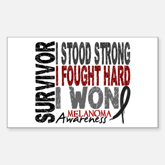 Survivor 4 Melanoma Shirts and Gifts Decal