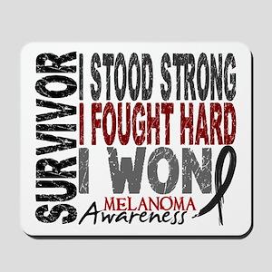 Survivor 4 Melanoma Shirts and Gifts Mousepad