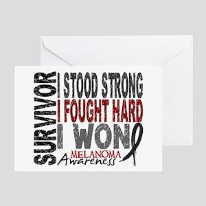 Survivor 4 Melanoma Shirts and Gifts Greeting Card