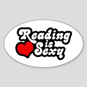 Reading is sexy Oval Sticker