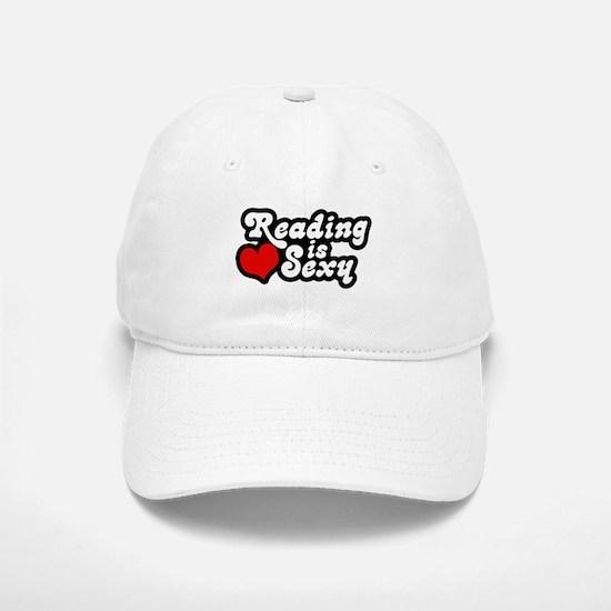 Reading is sexy Baseball Baseball Cap