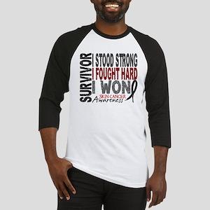 Survivor 4 Skin Cancer Shirts and Gifts Baseball J