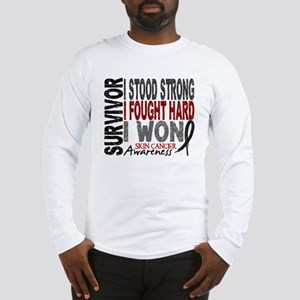 Survivor 4 Skin Cancer Shirts and Gifts Long Sleev