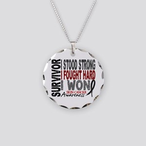 Survivor 4 Skin Cancer Shirts and Gifts Necklace C