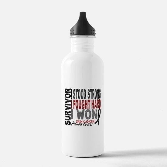 Survivor 4 Skin Cancer Shirts and Gifts Water Bottle