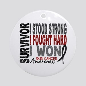 Survivor 4 Skin Cancer Shirts and Gifts Ornament (