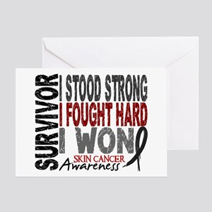 Survivor 4 Skin Cancer Shirts and Gifts Greeting C