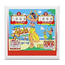Gottlieb® Aloha Pinball Tile Coaster