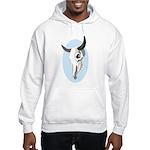 Pop Art - 'Steer Skull' Hooded Sweatshirt