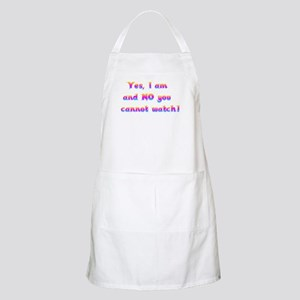Cannot Watch BBQ Apron
