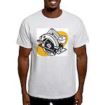 Pop Art - 'Circular Saw' Ash Grey T-Shirt