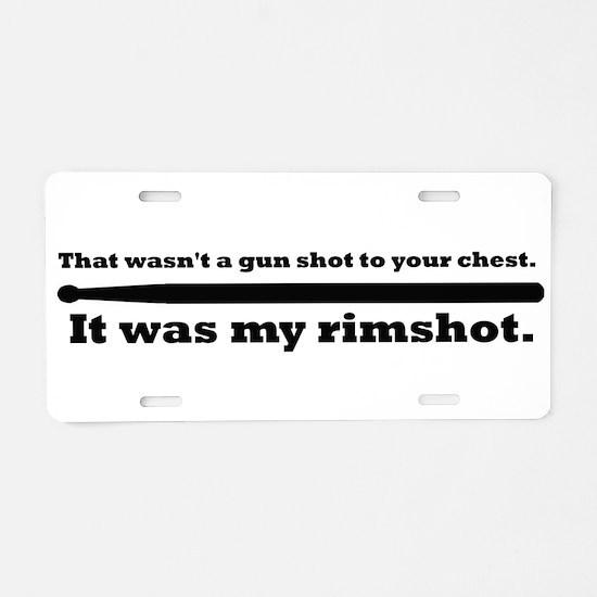 Rimshot Aluminum License Plate