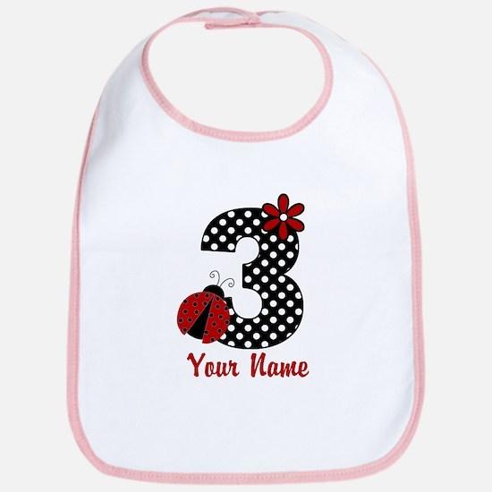3rd Birthday Ladybug Bib