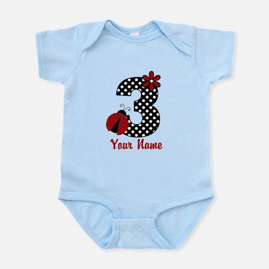 3rd Birthday Ladybug Infant Bodysuit