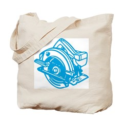 Pop Art - 'Circular Saw - Blu Tote Bag