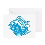Pop Art - 'Circular Saw - Blu Greeting Cards (Pack