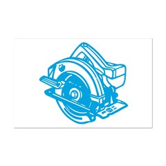 Pop Art - 'Circular Saw - Blu Poster Print (Mini) Print