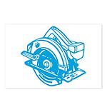 Pop Art - 'Circular Saw - Blu Postcards (Package o