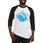 Pop Art - 'Circular Saw - Blu Baseball Jersey