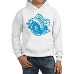 Pop Art - 'Circular Saw - Blu Hooded Sweatshirt