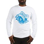 Pop Art - 'Circular Saw - Blu Long Sleeve T-Shirt