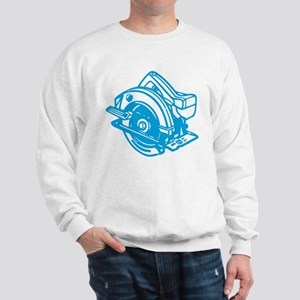Pop Art - 'Circular Saw - Blu Sweatshirt