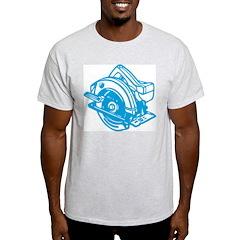 Pop Art - 'Circular Saw - Blu Ash Grey T-Shirt