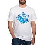 Pop Art - 'Circular Saw - Blu Fitted T-Shirt
