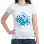 Pop Art - 'Circular Saw - Blu Jr. Ringer T-Shirt