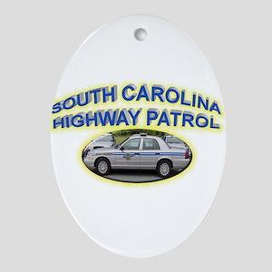 South Carolina Highway Patrol Ornament (Oval)