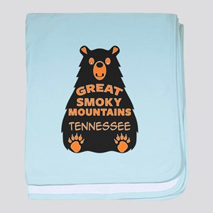 Great Smoky Mountains Bear National P baby blanket