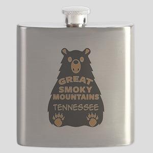 Great Smoky Mountains Bear National Park Ten Flask
