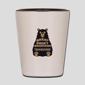 Great Smoky Mountains Bear National Par Shot Glass