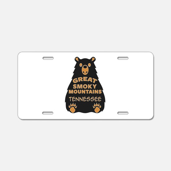 Great Smoky Mountains Bear Aluminum License Plate