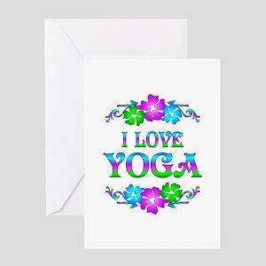 Yoga Love Greeting Card