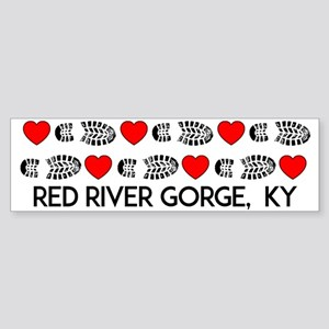 Red River Gorge Kentucky Hiking Lov Bumper Sticker
