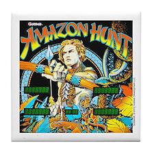 Gottlieb® Amazon Hunt Pinball Tile Coaster