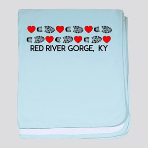 Red River Gorge Kentucky Hiking Love baby blanket