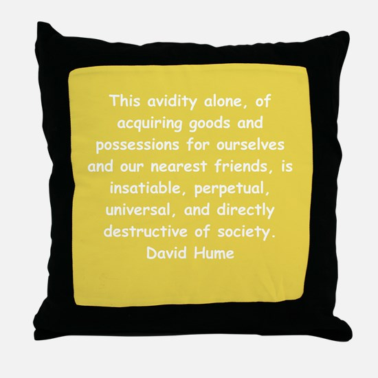 david hume Throw Pillow