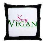Sexy Vegan Throw Pillow