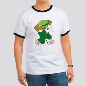 Cute Puppy St Pats Ringer T