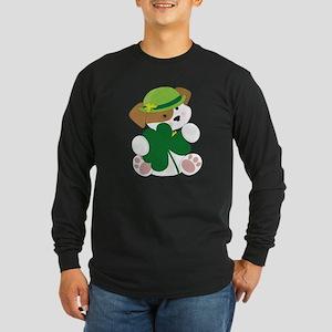 Cute Puppy St Pats Long Sleeve Dark T-Shirt