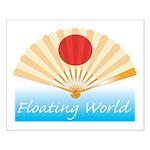Ukiyo-e - 'Floating World Fan Small Poster