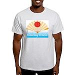 Ukiyo-e - 'Floating World Fan Ash Grey T-Shirt