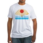 Ukiyo-e - 'Floating World Fan Fitted T-Shirt