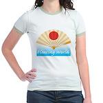 Ukiyo-e - 'Floating World Fan Jr. Ringer T-Shirt